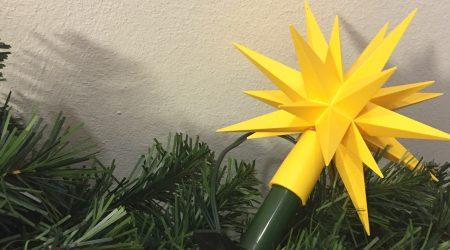 gelbe Original Herrnhuter Sternenkette