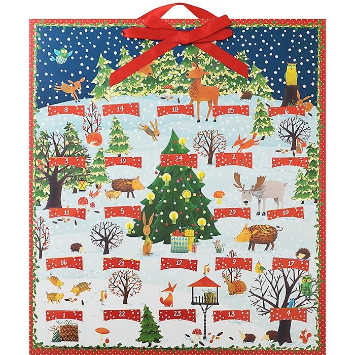 adventskalender bunte winter weihnachts tierwelt 14 95. Black Bedroom Furniture Sets. Home Design Ideas