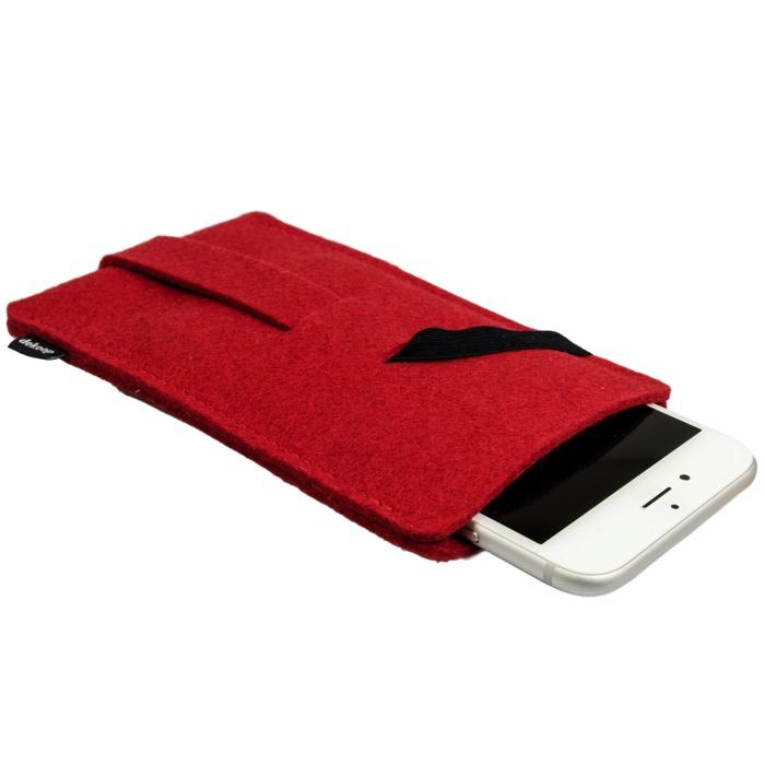 babuschka handyh lle aus filz rot f r iphone 6 15 95. Black Bedroom Furniture Sets. Home Design Ideas