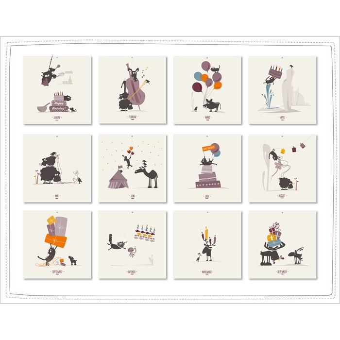 cats on appletrees geburtstagskalender 12 95. Black Bedroom Furniture Sets. Home Design Ideas