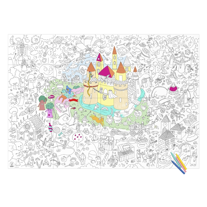 Giant coloring poster magic 12 95 - Coloriage omy ...