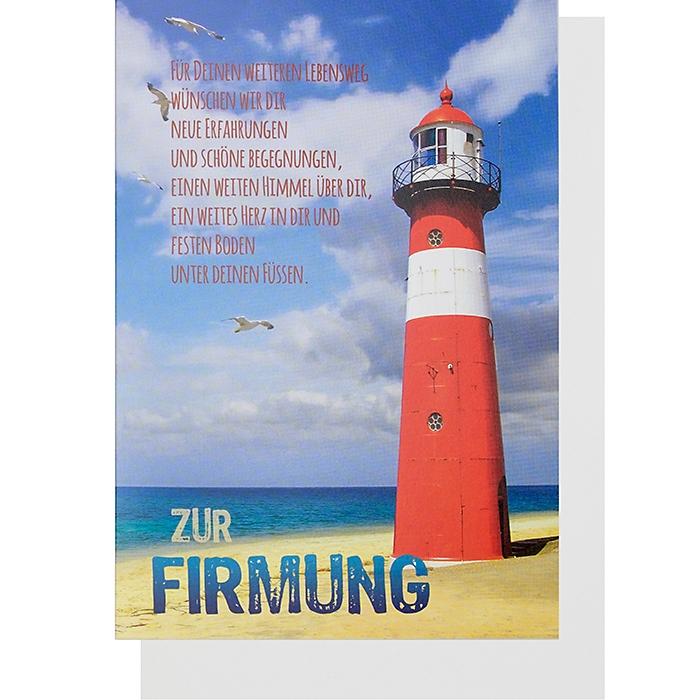 """Glückwunschkarte Klappkarte """"Zur Firmung ..."""", 2,60 &e"""