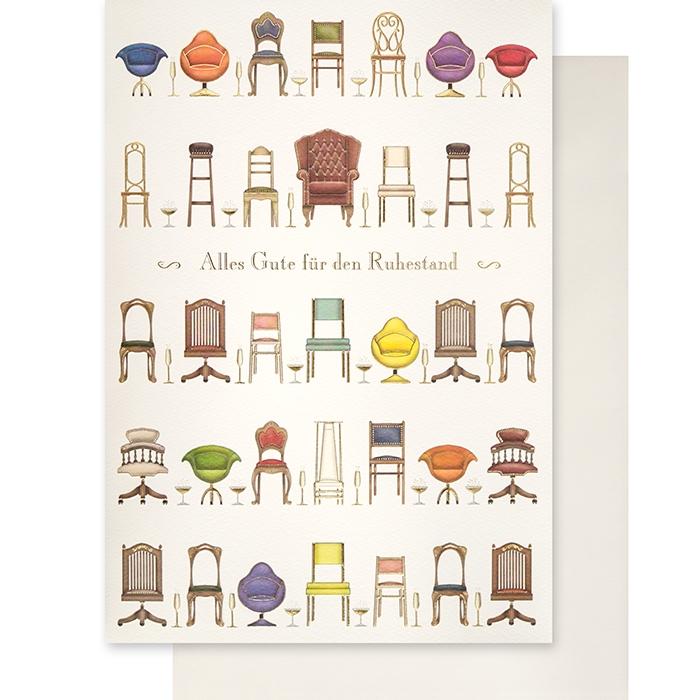 klappkarte alles gute f r den ruhestand xxl format. Black Bedroom Furniture Sets. Home Design Ideas