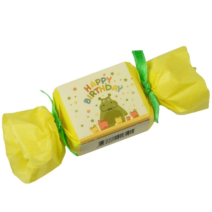 kleine seife zum verschenken happy birthday soap flusspferd gelb. Black Bedroom Furniture Sets. Home Design Ideas