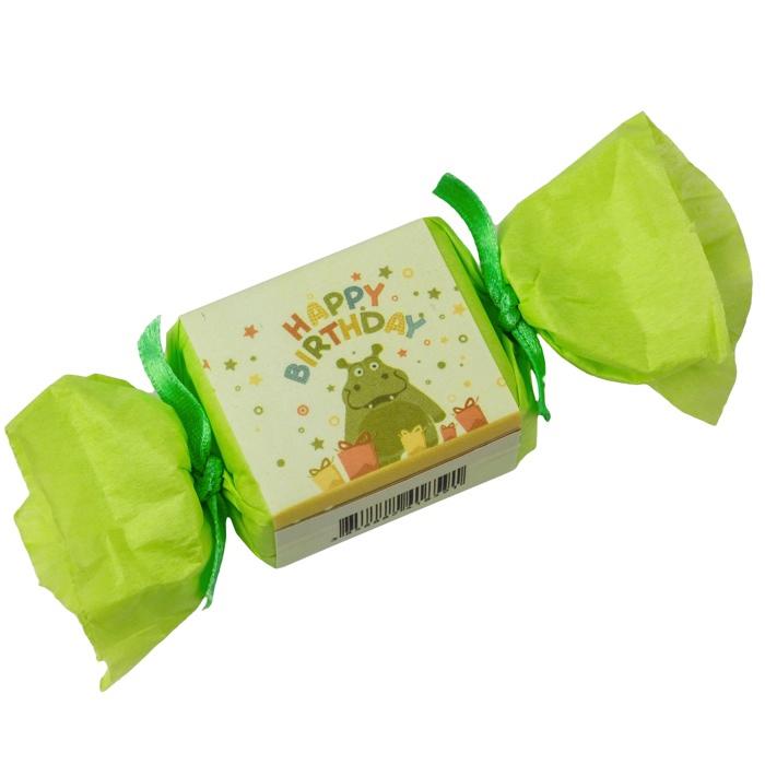 kleine seife zum verschenken happy birthday soap flusspferd gr uu. Black Bedroom Furniture Sets. Home Design Ideas