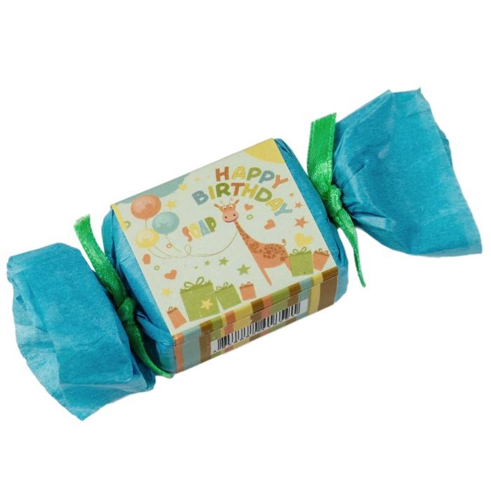 kleine seife zum verschenken happy birthday soap giraffe blau 2. Black Bedroom Furniture Sets. Home Design Ideas
