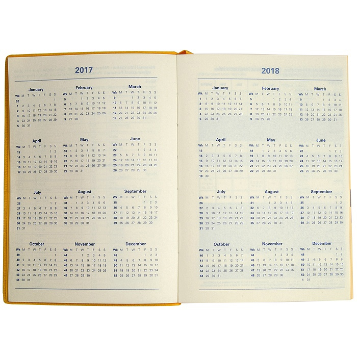 letts two tone akademischer kalender 2017 2018 1 tag pro. Black Bedroom Furniture Sets. Home Design Ideas