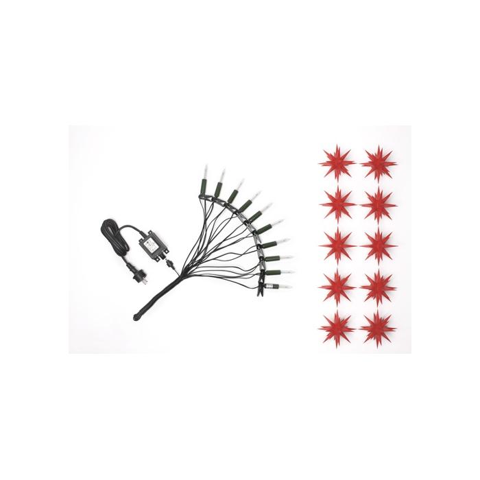 original herrnhuter sternenkette rot f r innen und au en. Black Bedroom Furniture Sets. Home Design Ideas