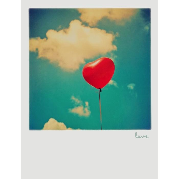 Polaroid postkarte love balloon 1 20 - Polaroid karten ...