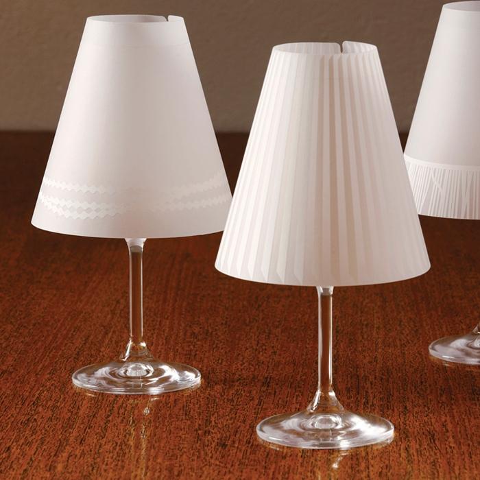 sch ne helene lampenschirme f r weingl ser 11 95 e. Black Bedroom Furniture Sets. Home Design Ideas