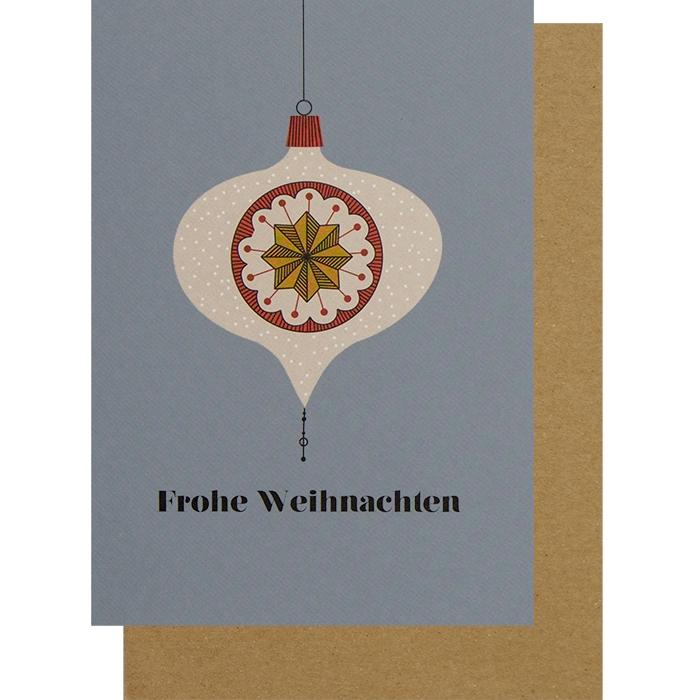 weihnachtskarte klappkarte weihnachtskugel frohe. Black Bedroom Furniture Sets. Home Design Ideas