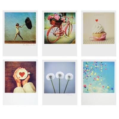 gru karten polaroid postkarten im 6er set 6 95. Black Bedroom Furniture Sets. Home Design Ideas