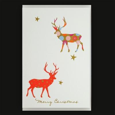 Weihnachtskarte klappkarte hirsch merry christmas 3 95 for Merry christmas bilder