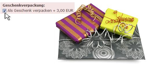 Unser Service: Geschenkverpackung