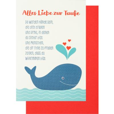 Glückwunschkarte Klappkarte Alles Liebe Zur Taufe