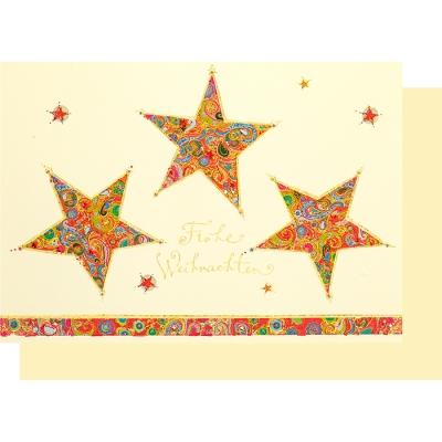 Stern Frohe Weihnachten.Weihnachtskarte Klappkarte Sterne Frohe Weihnachten