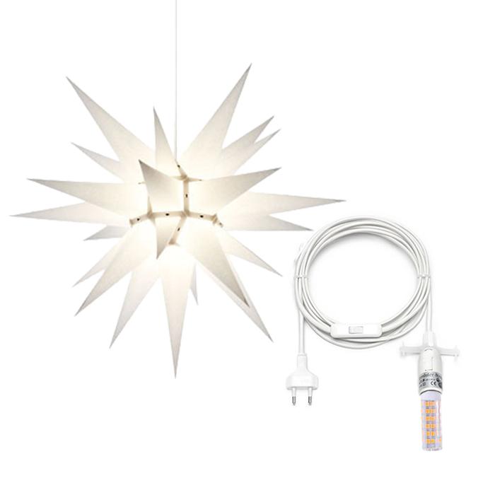 herrnhuter stern papier 60 cm innen kabel bei art form 40 50. Black Bedroom Furniture Sets. Home Design Ideas