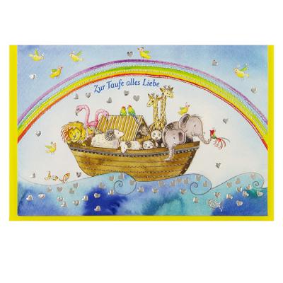 Glückwunschkarte Klappkarte Zur Taufe Alles Liebe