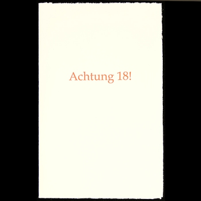 Geburtstagskarte Text 18.Geburtstagskarte Klappkarte Achtung 18