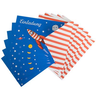 ... Einladungskarten Zum Kindergeburtstag   Rakete   6er Set