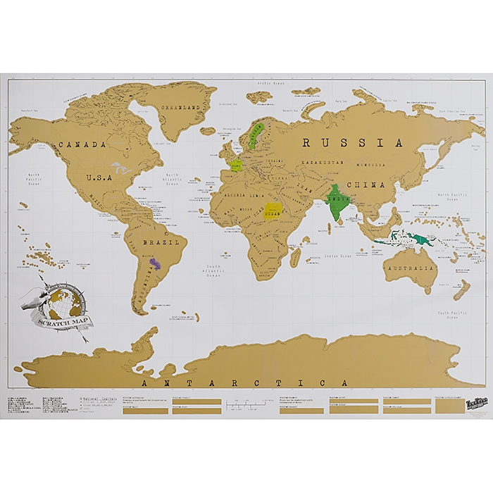 Scratch Map Weltkarte Zum Rubbeln 29 95