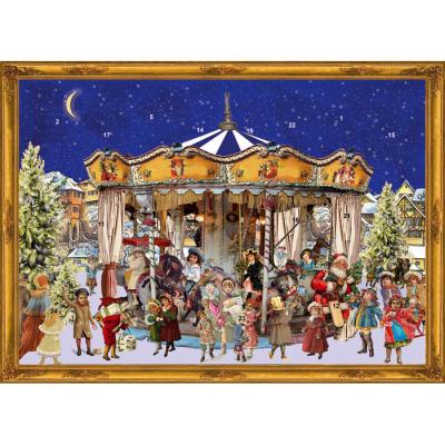 Schokoladen Weihnachtskalender.Schokoladen Adventskalender Weihnachtskarussell