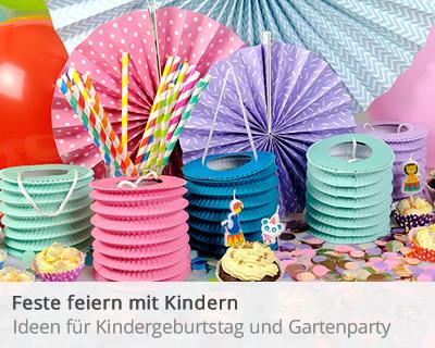 Alles für Feste mit Kindern - Kindergeburtstag, Gartenparty, Sommerfest